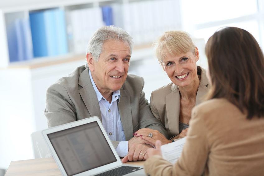 mortgage application - senior couple